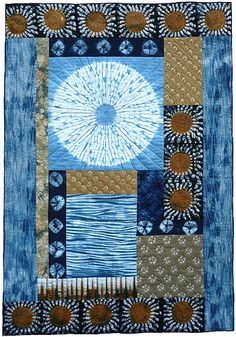Janice Gunner, three continents Japanese inspired quilt