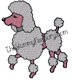 for my dog dandy and for my obsession of poodles, minus the pink part