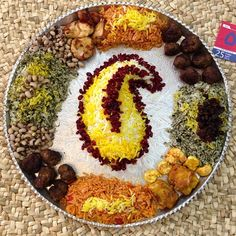 Persian Food Inspiration and pictures Afghanistan Food, Amazing Food Decoration, Persian Rice, Iran Food, Iranian Cuisine, Food Platters, Culinary Arts, Food Design, I Foods