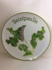 "Shafford Saintpaulia Garden Club Series 8 1/8"" Salad Plate"