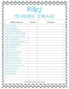 Keep track of those special moments with this free printable baby milestone tracker!