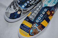 Custom Painted Fandom Shoes by DarkkHorseDesigns on Etsy Iron Man Avengers, Avengers Art, Sherlock Outfit, Hand Painted Shoes, Hot Heels, Fashion Painting, Shoe Art, Sherlock Bbc, Geek Chic