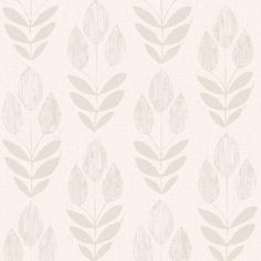 2535-20652 Blue Block Print Tulip - Scandinavian - Simple Space 2 Wallpaper By Beacon House