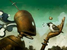 The Sparrow King Picture sci-fi, robot, steampunk, bird) Art Pop, Steampunk Bird, King Picture, Robot Illustration, Book Illustrations, Arte Robot, Image Digital, Cool Robots, Digital Art Gallery