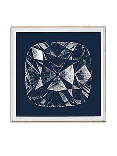Natural Curiosities Framed Radiant Cut Diamond Print - No Color