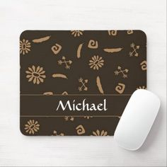 Ethnic design custom name mouse pad Ethnic Design, Business Supplies, Party Hats, Cute Hairstyles, Kids Shop, Birthday Parties, Names, Store, Anniversary Parties