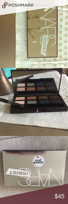Narsissist Dual- intensity eyeshadow pallet NARS eyeshadow pallet, wet/dry eyeshadow brush, some swiped, but 100%there.  Still in box. NARS Makeup Eyeshadow