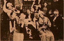 Still from the 1910 silent film Home Made Mince Pie.  The film is lost.