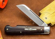 #15 Tidioute Sheepfoot Boys Knife in Ebony Wood