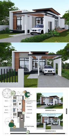 This Modern House Design may be your Ultimate House that you have been Dreaming of! House Design This Modern House Design may be your Ultimate House that you have been Dreaming of! Modern Bungalow House Design, Modern Small House Design, Small Bungalow, Simple House Design, Minimalist House Design, Modern Bungalow Exterior, Small Modern House Plans, Dream Home Design, Home Design Plans