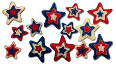 Lumenaris | Products | Felt | Garlands | Patriotic Star Garland