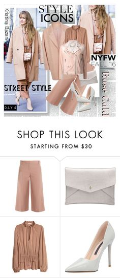 """NYFW Fall16 Style Icons Kristina Bazan"" by stylepersonal ❤ liked on Polyvore featuring TIBI, Lucky Brand, IRO, StreetStyle, NYFW, kristinabazan and Fall2016"