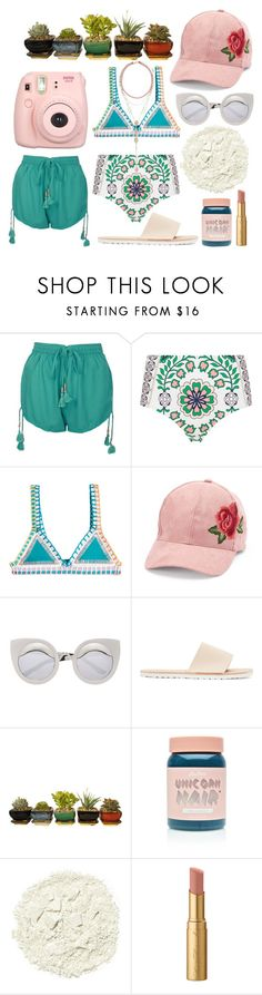 """AQUAHOLIC"" by shanelala ❤ liked on Polyvore featuring Boohoo, Tory Burch, kiini, David & Young, Hender Scheme, Lime Crime, Illamasqua, Too Faced Cosmetics and Accessorize"