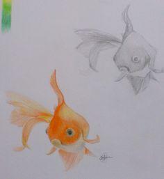 En jouant avec crayon de couleur
