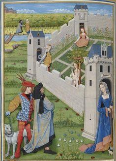 198v - Le jardin du deduit -- BNF, Manuscrits, français 143
