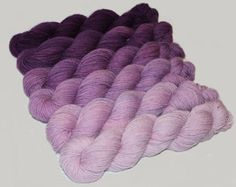 Gradient Yarn Kit Hand Dyed Merino Wool Pebble by BlackTrillium