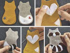 Tutoriel DIY: Réaliser des animaux en feutrine via DaWanda.com