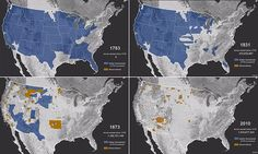 The devastating invasion of Native American land that bulldozed the indigenous population into relative insignificance has been visualized in a striking time-lapse map.
