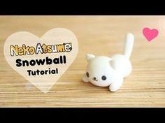 Kawaii Neko Atsume Snowball kitty cat polymer clay tutorial