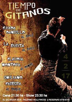 ESTE SÁBADO VENÍ A VERLOS A ELLOS!!! DISFRUTÁ DEL SHOW CENANDO LA MEJOR GASTRONOMÍA ESPAÑOLA DE PALERMO!!!  RESERVAS: 4776 6143 Cena Show, Palermo, Hollywood, Movie Posters, Movies, Flamenco, Films, Film Poster, Film Books