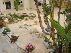 Backyard, stairs, fire pit Davis Concrete - 951-461-7123 Southern California
