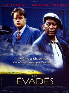 """Les évadés"" avec Tim Robbins & Morgan Freeman (Frank Darabont) : une magnifique amitié entre des détenus ..."