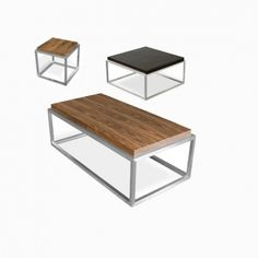 Drake Coffee Table by Gus Modern. Sculptural simplicity shines in t...