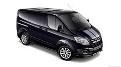 Ford has announced plans to offer a new Transit Custom Sport. It features revised styling and an upgraded interior. Ford Transit, Auto Motor Sport, Motor Car, Vehicle Signage, Ford Motorsport, Transit Custom, Engines For Sale, Van Wrap, Sports Graphics