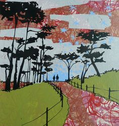Walk to the Water Limited edition screen print by hilarywilliams