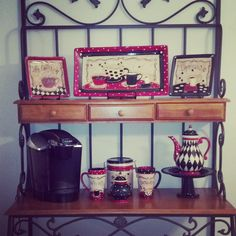 My coffee themed kitchen! Love the bakers rack!! Thank you hobby lobby!!