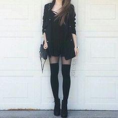 Imagem de fashion, black, and style