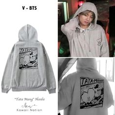 Look for the most up-to-date artist hoodies. Store hanging hoodies from countless top-class lavish labeling. Bts Hoodie, Bts Shirt, Sweater Hoodie, Kpop Fashion Outfits, Korean Outfits, Mochila Do Bts, Mode Kpop, Bts Clothing, Bts Inspired Outfits