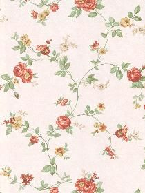 Wallpaper 8843266 Keywords describing this pattern are flowers, leaves, vines.  Colors in this pattern are Pink.  Coordinating patterns are 8843294;Page:63;8843269;Page:73;ST3266F;Page:71. Product Details:  prepasted  strippable  washable  Material is Vinyl Coated Paper with Metallic Color. Product Information:  Book name: Traditional Portfolio Vol. 3 Pattern #: 8843266 Repeat Length: 21 inches.  Pattern Length: 33 inches.  Pattern Length: 20 1/2 inches.