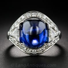 9.60 Carat No-Heat Burma Sapphire and Diamond Ring