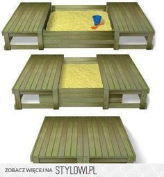 Awesome Sandbox - Provides a seat, playing platform and closing will keep it clean. (note: The neighborhood cats LOVE a sandbox.)