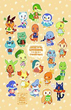 lemoncreamsicle<<< Pokemon x Animal Crossing Pokemon Oc, Pokemon Pins, Pokemon Comics, Pokemon Fan Art, Pokemon Stuff, Animal Crossing Memes, Animal Crossing Villagers, Pokemon Adventures Manga, Cute Pokemon Pictures