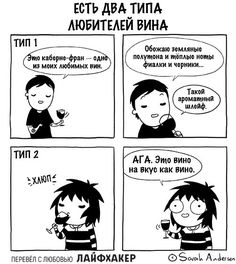 The two types of wine drinkers-Sarah Andersen. Sarah Anderson Comics, Sara Anderson, Cute Comics, Funny Comics, Saras Scribbles, C Cassandra, The Awkward Yeti, Mini Comic, In Vino Veritas
