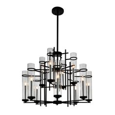 CWI Lighting Sierra Black Modern/Contemporary Chandelier at Lowe's. This breathtaking 12 Light Up Chandelier with Black finish is a beautiful piece from our Sierra Collection. With its sophisticated beauty and stunning Black Chandelier, Contemporary Chandelier, Chandelier Shades, Chandelier Lighting, Modern Contemporary, Black Light Bulbs, Light Bulb Types, Light Shades, Light Up