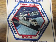 PATCH SPACE NASA STS-6 CHALLENGER WEITZ PETERSON BOBKO MUSGRAVE PARCHE