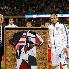 Landon Donovan, who represented his country for the 157th and final time.