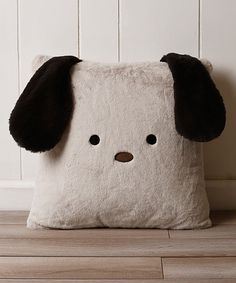 Look at this Taupe Puppy Plush Faux Fur Pillow on #zulily today!