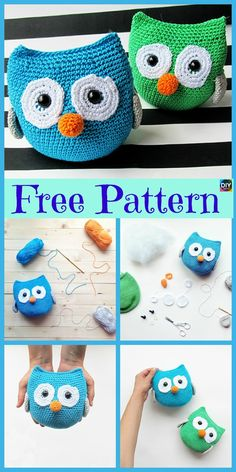 Everyone loves owls, and they are one of our favorite animals! So why not learn how to make a adorable Crochet Amigurumi Owl for your child ? Crochet Giraffe Pattern, Owl Crochet Patterns, Crochet Unicorn, Owl Patterns, Crochet Art, Cute Crochet, Amigurumi Patterns, Crochet Animals, Crochet Designs