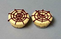 Spider Web Mini Cheesecakes