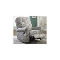 Nursery Recliner Swivel Glider Chair Baby Nursing Rocking Furniture Jackson Grey