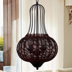 Vintage Pastoral Iron Rattan Dining Room Pendant Lamp Bedroom Pendant Lamp Shops Pendant Lamp