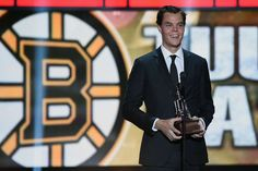 Tuukka Rask Photos - Tuukka Rask of the Boston Bruins speaks after winning the Vezina Trophy during the 2014 NHL Awards at the Encore Theater at Wynn Las Vegas on June 2014 in Las Vegas, Nevada. - Inside the NHL Awards Boston Bruins, Boston Red Sox, Martin Brodeur, Nhl Awards, Nhl Season, Nhl Players, Boston Strong, Boston Sports, Sport 2