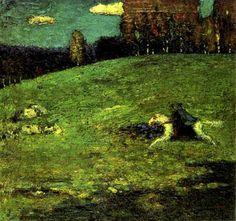 Painter Wassily Kandinsky. Painting. Blaue Reiter. 1903 year