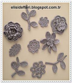 tığ işi Crochet Necklace, Knitting, Floral, Creative, Flowers, Jewelry, Patterns, Projects, Fashion