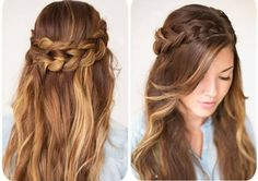 DIY Hairstyles: Another simple and easy to do hairstyle - Wrap Around Braid. This Wrap Around Braid will work for any occasion, it can take you easily from day to night, can be glammed up or you can keep it simple Vintage Hairstyles, Down Hairstyles, Pretty Hairstyles, Braided Hairstyles, Bridesmaid Hair, Prom Hair, Wrap Around Braid, Wedding Guest Hairstyles, Hair Dos