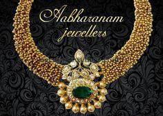 Classic Necklace by Abharanam Jewellers - Jewellery Designs Diamond Jewelry, Gold Jewelry, Jewelery, Gold Necklaces, Fine Jewelry, India Jewelry, Temple Jewellery, Indian Wedding Jewelry, Bridal Jewelry